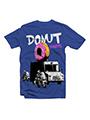 Good Karma Printed Round Neck T-Shirt - Blue