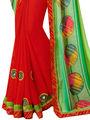 Indian Women Bandhani Print Chiffon & Georgette Saree -Ic11207