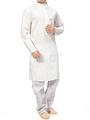Ishin Cotton Plain Kurta Pajama For Men_indsh-107 - White