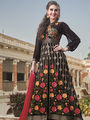 Viva N Diva Semi Stitched Georgette Floral Embroidered Semi Stitched Suits Nimaya-702