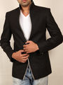Runako Solid Regular Full sleeves Party Wear Blazer For Men - Black_RK5031