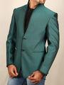 Runako Solid Regular Full sleeves Semi Formal Blazer For Men - Green