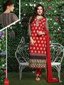 Viva N Diva Silk Embroidered Salwar Suit - Red - Mohini-3007