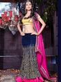 Viva N Diva Bhagalpuri Embroidered Lehenga - Blue
